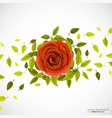 floral pattern with rose and leafs vector image