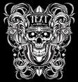 skull ornament illustration vector image