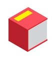 Isometric book icon in flat vector image