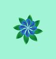 3d flower logo vector image vector image