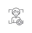 add user line icon concept add user linear vector image vector image
