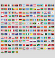 all national flags world stickers vector image