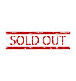 all sold tickets or product rubber stamp vector image vector image