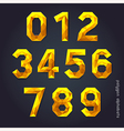 Alphabet number gold color polygon style vector image vector image