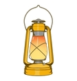 Antique Brass Old Kerosene Lamp vector image