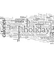 avoid holiday weight gain easy tips vector image vector image