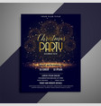 beautiful christmas party celebration flyer design vector image vector image