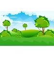 Beautiful landscape background vector image vector image
