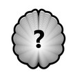 brain logo and question mark isolated human organ vector image vector image