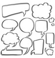 bubble speech set hand draw vector image