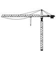 Building crane vector image
