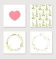 Cards collection for valentines day birthday save vector image vector image