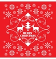 Christmas card with reindeer and tree in a vector image