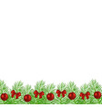 christmas tree branches decorated vector image