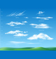 clouds infographics realistic set vector image