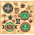 coffee labels and icons vector image