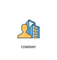 company concept 2 colored line icon simple yellow vector image vector image