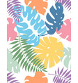 creative floral exotic seamless pattern vector image vector image