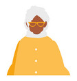 cute grandmother black avatar character vector image vector image