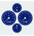 Dashboard Speedometer and tachometer Icon vector image vector image