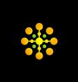 dot technology circle logo vector image vector image