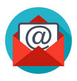 envelope email icon vector image vector image