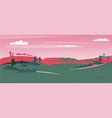 fields landscape landscape vector image vector image