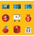 Flat icon set Money vector image vector image