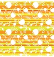 floral on color stripes seamless vector image vector image