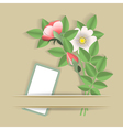 flowers and the card vector image