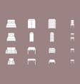 furniture icons set 04 vector image vector image
