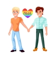 Gay couple holding hands vector image