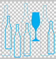 glasses alcohol vector image vector image