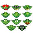 Gremlin emoticon set vector image vector image