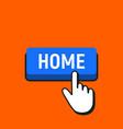 hand mouse cursor clicks the home button vector image