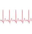 heart cardiogram pulse heartbeat vector image