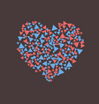 heart of scattered triangles vector image