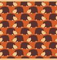 hedgehog seamless pattern cute autumn vector image vector image