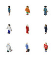 isometric people set of businesswoman officer vector image vector image