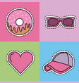 kawaii set icons fantasy decoration stickers vector image vector image