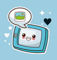 kawaii tablet picture image vector image vector image