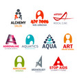 letter a corporate identity business icons vector image vector image