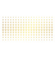 light bulb gold halftone pattern vector image