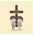 love of religion design vector image vector image