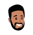 male head person cartoon avatar image vector image