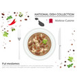 malta cuisine european national dish collection vector image