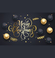 merry christmas greeting card golden vector image vector image