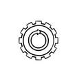 metal gear hand drawn sketch icon vector image