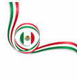 mexican wavy flag background vector image vector image