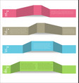modern abstract infographic colorful background vector image